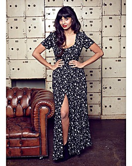 Jameela Jamil Star Print Maxi Dress