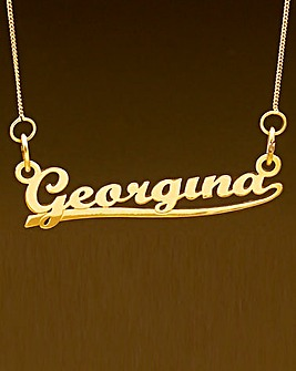 9ct Gold Personalised Name Necklace