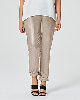 Metallic Linen Mix Trouser Regular