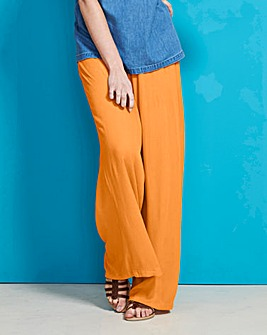 Crinkle Wide Leg Trouser Regular