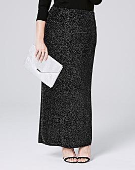 Glitter Maxi Tube Skirt