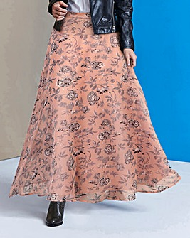 Floaty Floral Print Maxi Skirt
