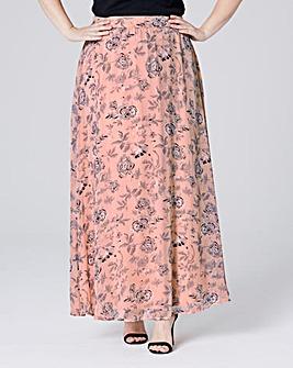 Floaty Floral Print Maxi Skirt