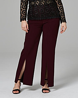 Magisculpt Crepe Wide Leg Front Split