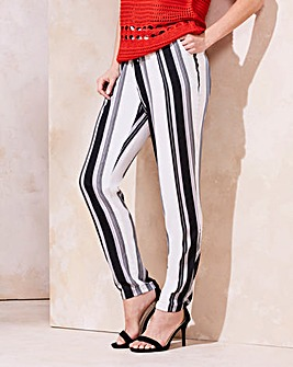 Stripe Tapered Leg Trousers