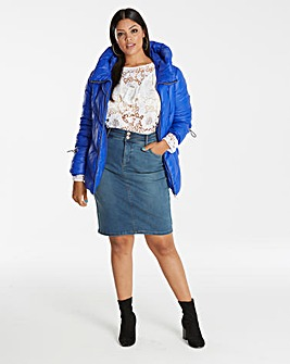 Blue Shape & Sculpt Denim Pencil Skirt