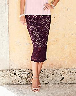 Lace Midi Tube Skirt