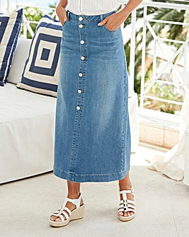 Supersoft Button Front Maxi Skirt