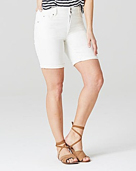 White Shape & Sculpt Denim Shorts