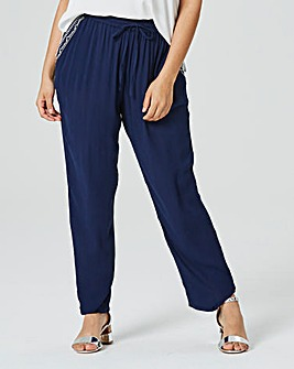 Crinkle Curved Hem Trouser Regular