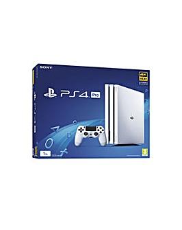 PS4 Pro 1TB White Console