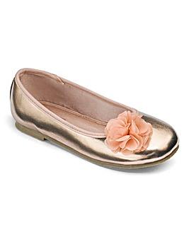 Florence Flower Trim Ballerina F Fit