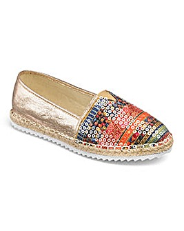 Heavenly Soles Espadrilles EEE Fit