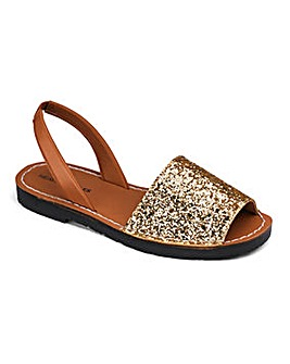 Heavenly Soles Glitter Sandals EEE Fit