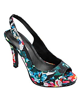 Heavenly Soles Peep Toe Shoes E Fit