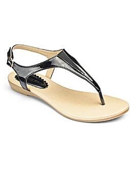 Heavenly Soles Toe Post Sandals EEE Fit