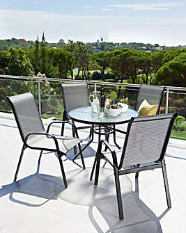 Monaco 5-Piece Garden Furniture Set