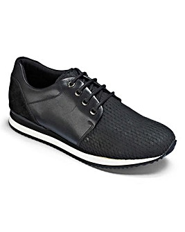 Be Active Luxe Leather Lace Trainers D