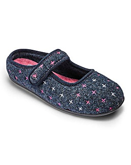 Padders Felt Mule Slippers E/EE Fit