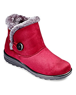 Cushion Walk Warmlined Ankle Boots E Fit
