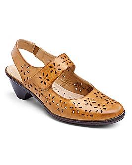 Cushion Walk Slingback Bar Shoes E Fit