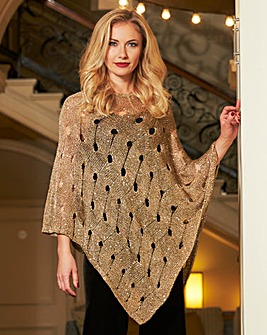 Metallic Poncho Christmas Jumper