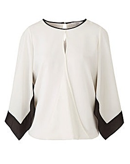 Joanna Hope Contrast Trim Blouse
