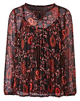 Joanna Hope Print Gypsy Blouse