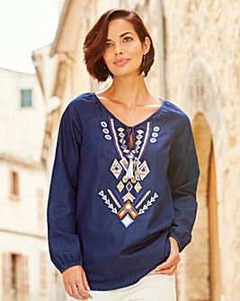 Joanna Hope Embroidered Blouse