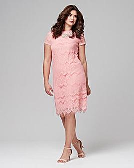 Joanna Hope Lace Shift Dress