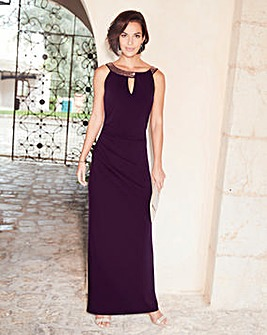 Joanna Hope Sequin Trim Maxi Dress
