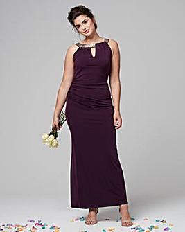 Joanna Hope Sequin Trim Maxi Dress