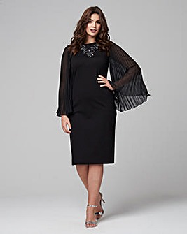 Joanna Hope Pleat Sleeve Dress