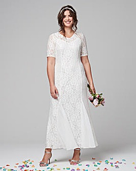 Joanna Hope Lace Maxi Dress With Godets