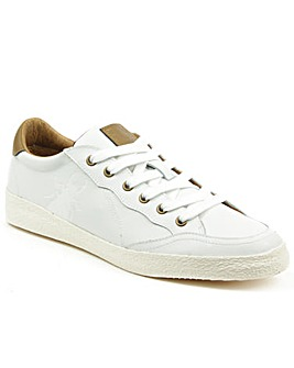 Fly London White Lace Up Trainer