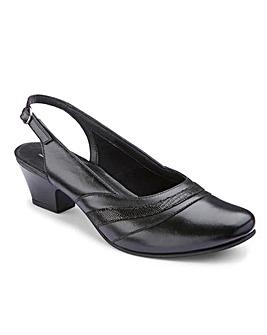 Orthopedic Slingback Court Shoes EE Fit