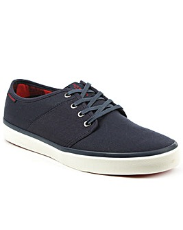 Jack Jones Navy Canvas Lace Up Sneaker