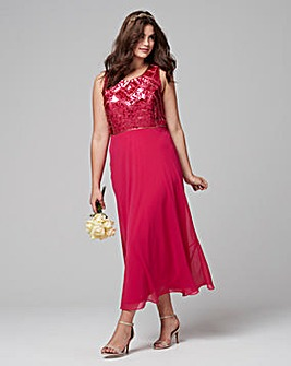 Joanna Hope Sequin Trim Dress and Bolero