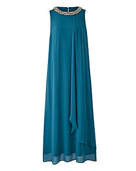 Joanna Hope Bead Trim Maxi Dress