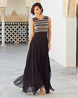Joanna Hope Beaded Bodice Maxi Dress