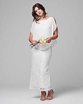 Joanna Hope Lace Maxi Dress With Overlay