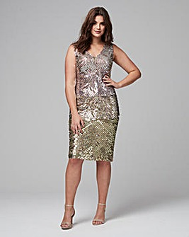 Joanna Hope Sequin Shift Dress