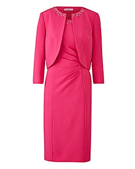 Joanna Hope Jewel Trim Dress and Jacket