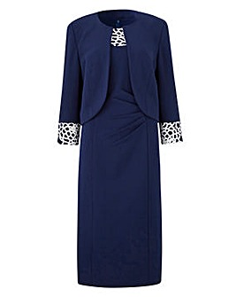Joanna Hope Lace Trim Dress and Jacket