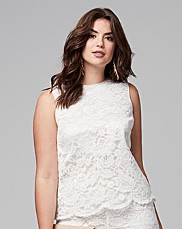 Joanna Hope Lace Shell Top