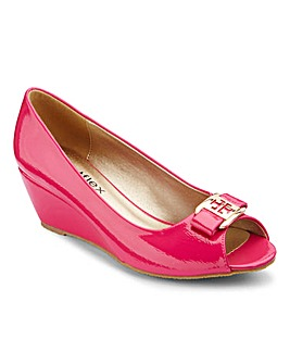 Footflex by Lotus Peep Toe Shoes EEE Fit