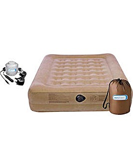 Raised Double Camping Air Bed with Pump