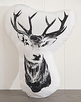 Stag, Pug and Butterfly Cushion