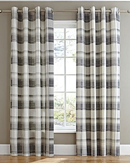 Balmoral Check Lined Eyelet Curtains