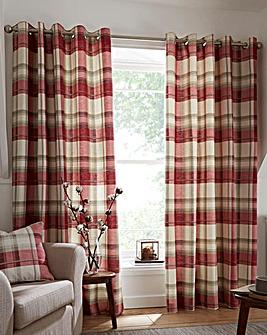 Balmoral Check Lined Eyelet Curtains